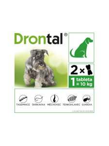 DRONTAL DOG FLAVOUR 150/144/50 MG 2 TABLETTEN