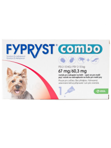 FYPRYST COMBO SPOT-ON HUND (2-10 KG) 3x PIPETTE 67 MG